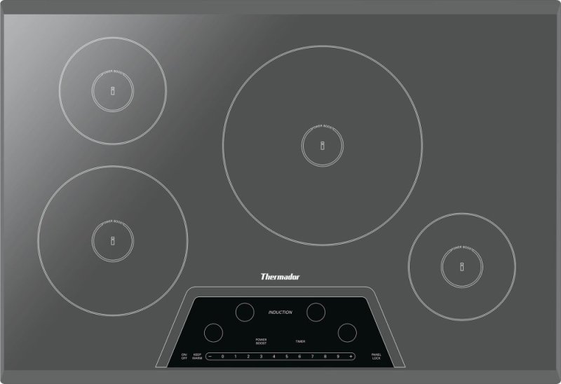 30 Inch Masterpiece Induction Cooktop Silver Mirror Frameless