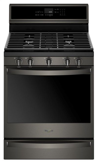 5.8 Cu. Ft. Smart Freestanding Gas Range with EZ-2-Lift Grates Product Image