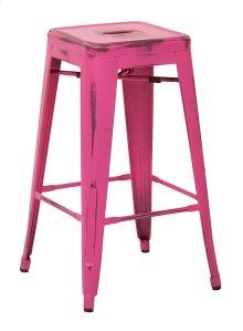 "Bristow 26"" Antique Metal Barstool, Antique Pink Finish, 4 Pack"