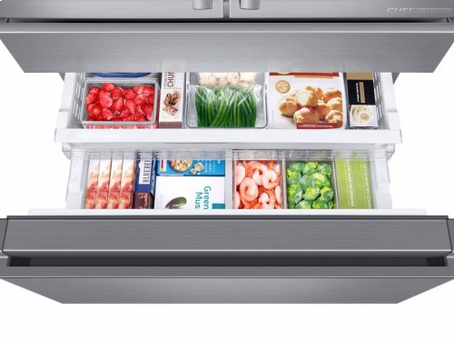 "23 cu ft. Capacity Counter Depth 4-Door French Door 36"" Freestanding Chef Collection Refrigerator"