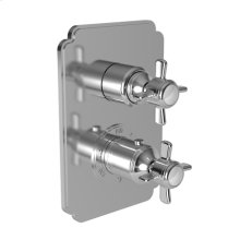 """Forever Brass - PVD 1/2"""" Square Thermostatic Trim Plate with Handle"""