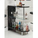 Contemporary Glossy Black Bar Table Product Image