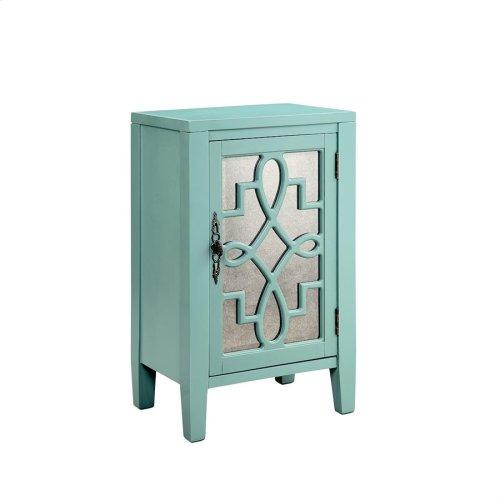 Leighton 1-door Cabinet In Turquoise