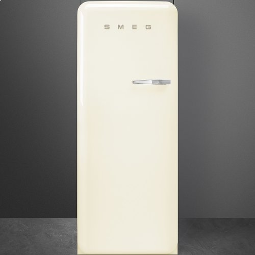 50'S Style Refrigerator with ice compartment, Cream, Left hand hinge
