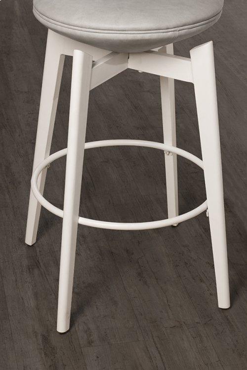 Genesis Backless Swivel Counter Stool - White