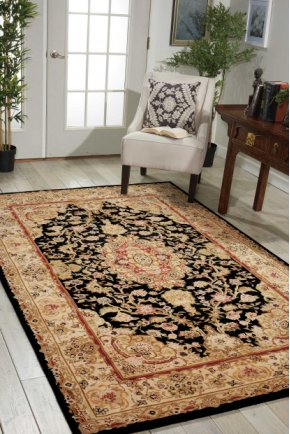 Nourison 2000 2028 Blk Rectangle Rug 27'' X 18''