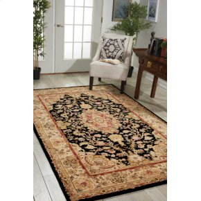 Nourison 2000 2028 Blk Rectangle Rug 2'6'' X 4'3''