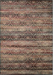 0466/0280 All Over Diamond / Red-Black-Oatmeal Area Rugs