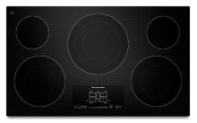 """36"""" Electric Cooktop with 5 Radiant Elements and Touch-Activated Controls - Black"""
