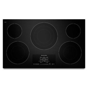 "KITCHENAID36"" Electric Cooktop with 5 Radiant Elements and Touch-Activated Controls - Black"