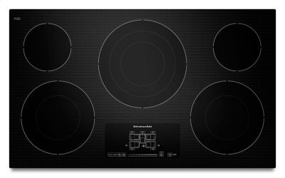 "36"" Electric Cooktop with 5 Radiant Elements and Touch-Activated Controls - Black Product Image"
