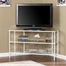 Kendrick Metal/Glass Corner-Optional TV Stand- White Product Image