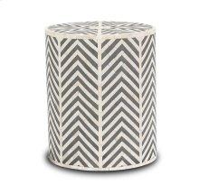 Kiara Side Table - Cream/ Grey