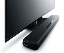 YAS-107 Black Sound Bar with Dual Built-in Subwoofers