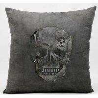 "Luminescence L1293 Dark Grey 18"" X 18"" Throw Pillow Product Image"
