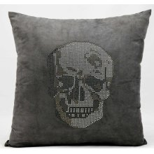 "Luminescence L1293 Dark Grey 18"" X 18"" Throw Pillow"
