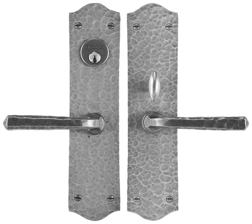 """Handle set for interior or exterior door - Complete single cylinder set for 2 1/4"""" door"""