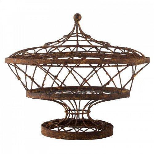 Oval Lidded Basket