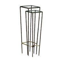 Bronze Hammered Nesting Tables
