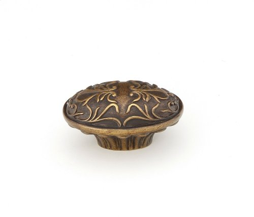 Oval Knob, Cantata, Dark Italian Antique, 5/8