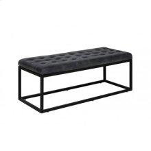 Couch 123x50x43 cm FLITWICK leather grey