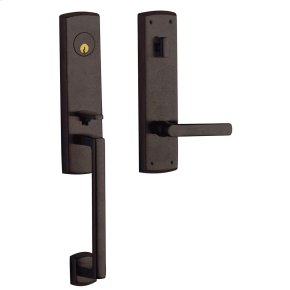 Distressed Venetian Bronze Soho Escutcheon Handleset