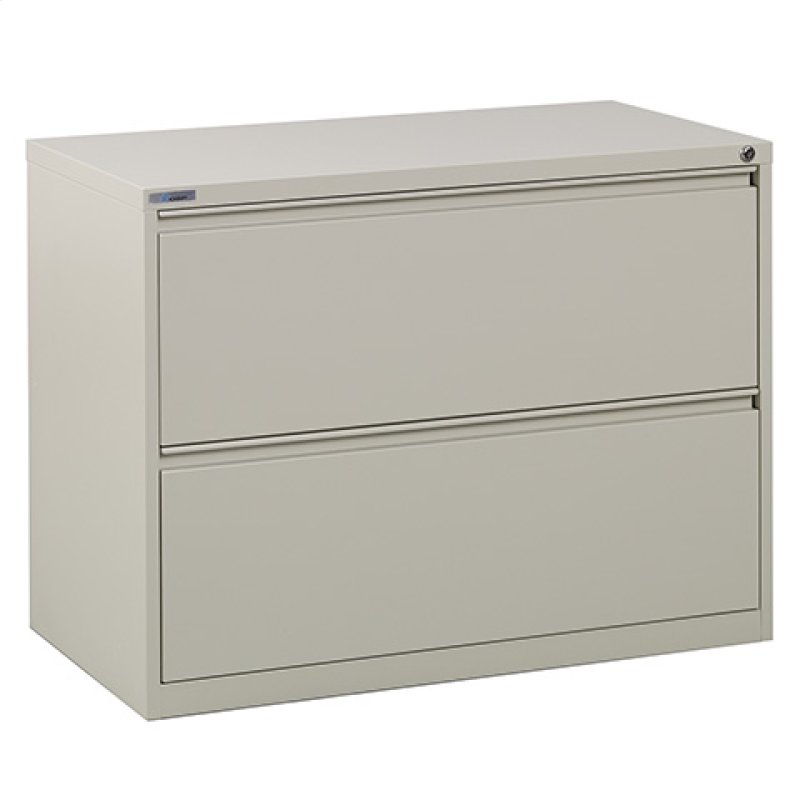 36 Wide 2 Drawer Lateral File With Core Removeable Lock Adjule Glides