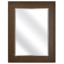 Francene Brown Faux Leather Mirror