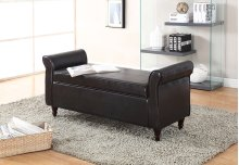 7071 Brown Storage Bench