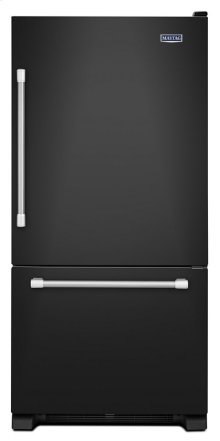 "30"" Wide Bottom Mount Refrigerator with LED Lighting - 19 cu. ft."