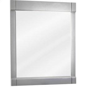 "28"" x 34"" Grey mirror with beveled glass"