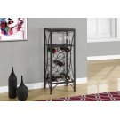 """HOME BAR - 40""""H / BLACK METAL WINE BOTTLE AND GLASS RACK Product Image"""