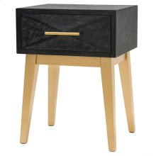 Leonardo KD End Table 1 Drawer Gold Legs, Black Wash *NEW*
