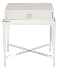 Criteria End Table in Pale Ivory Leather (363) Product Image