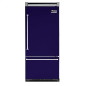 "Cobalt Blue 36"" Quiet Cool™ Bottom-Mount Refrigerator/Freezer - VIBB Tru-Flush™ (Right Hinge Door)"