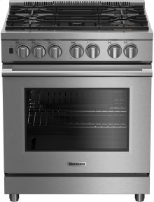 "30"" Pro gas range with self clean 5 burner, track light, 1 x 20,000BTU"