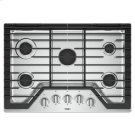 Whirlpool® 30-inch Gas Cooktop with EZ-2-Lift™ Hinged Cast-Iron Grates - Stainless Steel Product Image