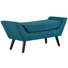 Gambol Upholstered Fabric Bench in Teal