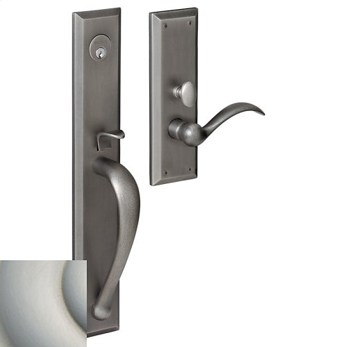Satin Nickel with Lifetime Finish Cody Full Escutcheon Trim