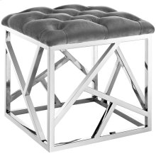Intersperse Ottoman in Silver Gray