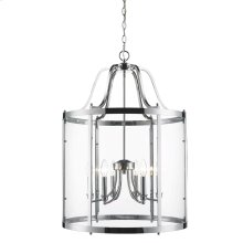 Payton 6 Light Pendant in Chrome with Clear Glass