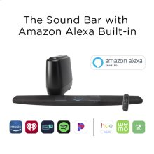 The Home Theater Sound Bar System with Amazon Alexa Built-in in Black