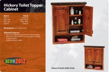 Hickory Toilet Topper Cabinet