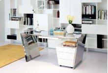 Modrest Clif - Modern White 3-Drawer Office Cabinet