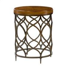 Hidden Treasures Round Lamp Table