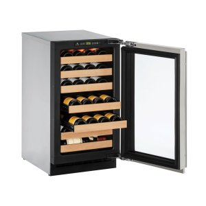 "U-Line2000 Series 18"" Wine Captain(r) Model With Integrated Frame Finish and Field Reversible Door Swing (115 Volts / 60 Hz)"