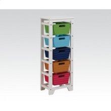 Storage Rack W/5 Baskets