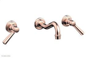 HENRI Wall Tub Set - Lever Handles 161-57 - Polished Copper