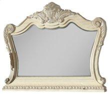 Monaco Antique White Mirror - 58''L x 4''D x 46''H