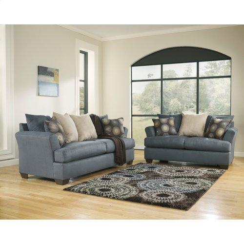 Signature Design by Ashley Mindy Living Room Set in Indigo Fabric
